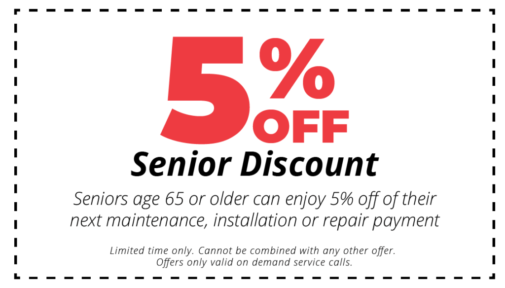5% off hvac services senior discount coupon