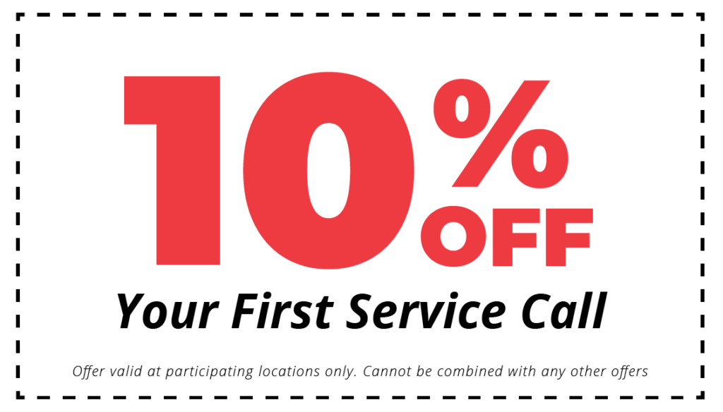10%off Your First Service Call