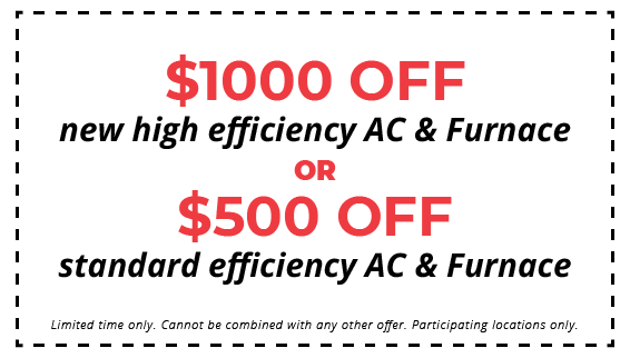 $1000 off new HVAC system coupon