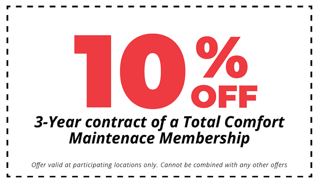 10% off 3 year hvac maintenance plan contract coupon