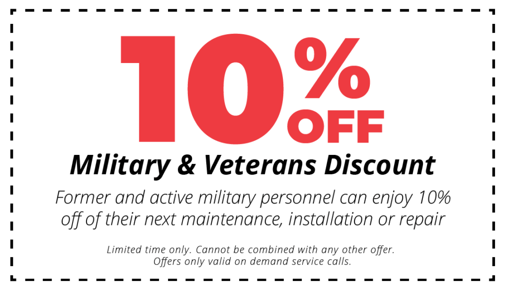 10% off hvac services military and veterans discount coupon